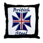 British Steel Maltese Cross Throw Pillow