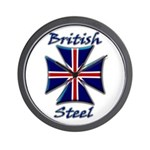 British Steel Maltese Cross Wall Clock