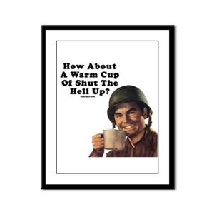How About A Warm Cup Of Shut  Framed Panel Print