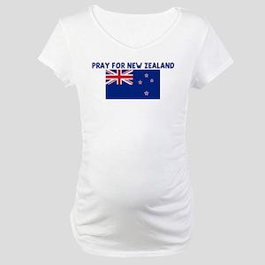 PRAY FOR NEW ZEALAND Maternity T-Shirt