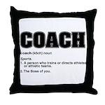 Coach Definition Throw Pillow