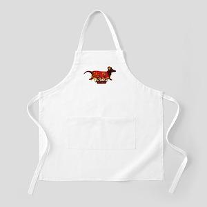Weiner Dog Valentine BBQ Apron