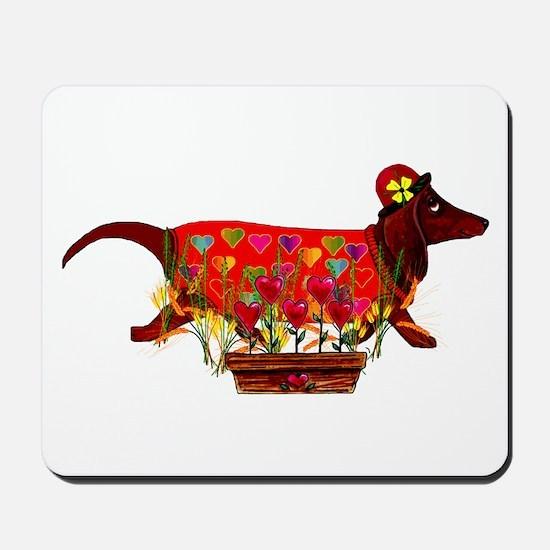 Weiner Dog Valentine Mousepad