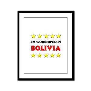 I'm Worshiped In Bolivia Framed Panel Print