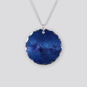 Milky Way Necklace Circle Charm