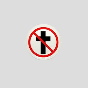 No Christianity Mini Button