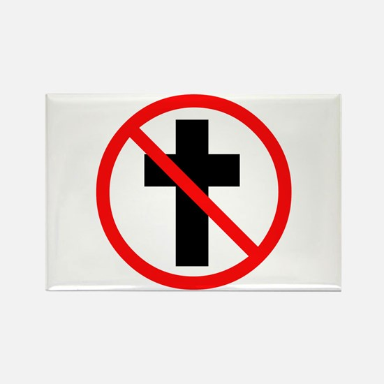 No Christianity Rectangle Magnet