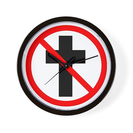 No Christianity Wall Clock