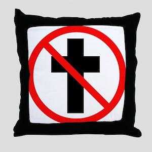 No Christianity Throw Pillow