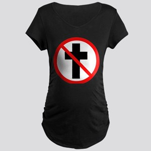 No Christianity Maternity Dark T-Shirt