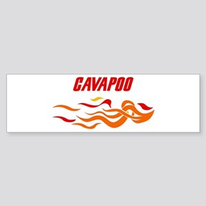 Cavapoo (fire dog) Bumper Sticker