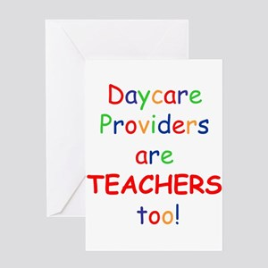 Daycare Providers are TEACHER Greeting Card