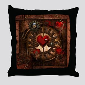 Steampunk, awesome steampunk heart with clcoks and