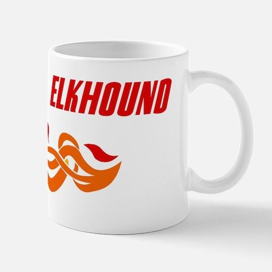 Norwegian Elkhound (fire dog) Mug