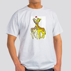 Giraffes In Love Ash Grey T-Shirt