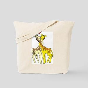 Giraffes In Love Tote Bag