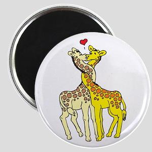Giraffes In Love Magnet