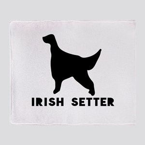 Irish Setter Dog Designs Throw Blanket