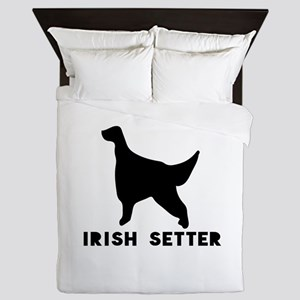 Irish Setter Dog Designs Queen Duvet