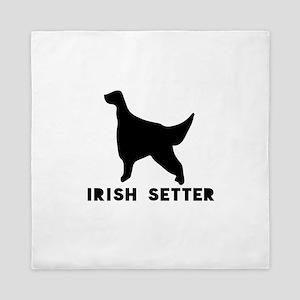 Irish Setter Dog Designs Queen Duvet