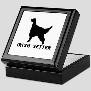 Irish Setter Dog Designs Keepsake Box