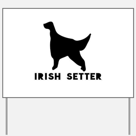 Irish Setter Dog Designs Yard Sign