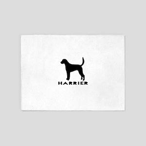 Harrier Dog Designs 5'x7'Area Rug
