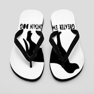 Greater Swiss Mountain Dog Designs Flip Flops