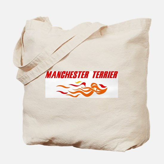 Manchester Terrier (fire dog) Tote Bag