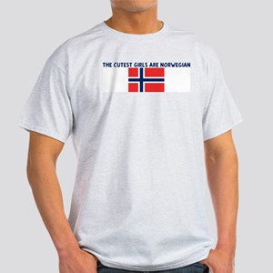 THE CUTEST GIRLS ARE NORWEGIA Light T-Shirt
