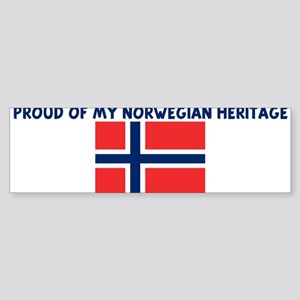 PROUD OF MY NORWEGIAN HERITAG Bumper Sticker