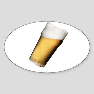 """Beer' Oval Sticker"
