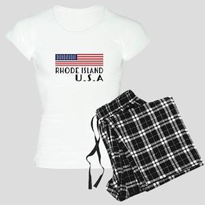 Rhode Island U.S.A State De Women's Light Pajamas