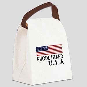 Rhode Island U.S.A State Designs Canvas Lunch Bag