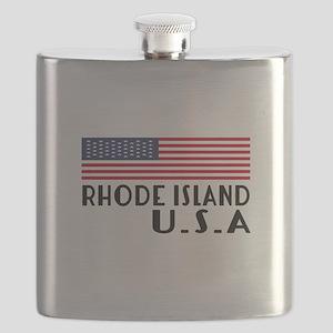 Rhode Island U.S.A State Designs Flask