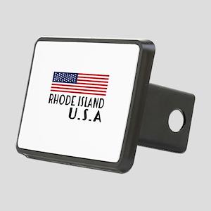 Rhode Island U.S.A State D Rectangular Hitch Cover