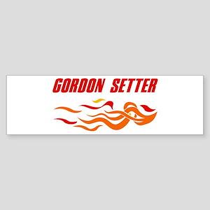 Gordon Setter (fire dog) Bumper Sticker