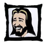 Laughing Jesus Throw Pillow