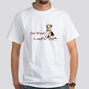 Wire Fox Terrier Dog Walk White T-Shirt