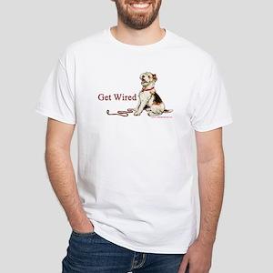 Wire Fox Terrier Dog Walk White T-Shirt