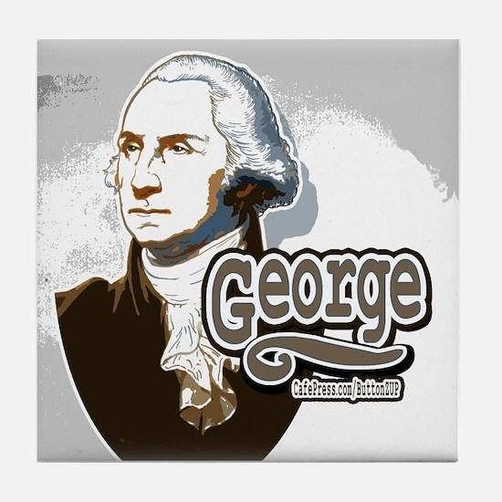 """George"" Washington Tile Coaster"