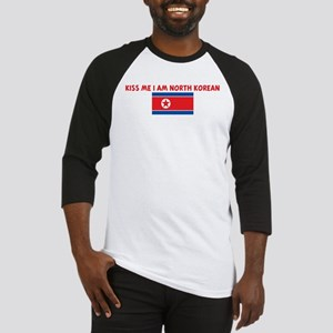 KISS ME I AM NORTH KOREAN Baseball Jersey