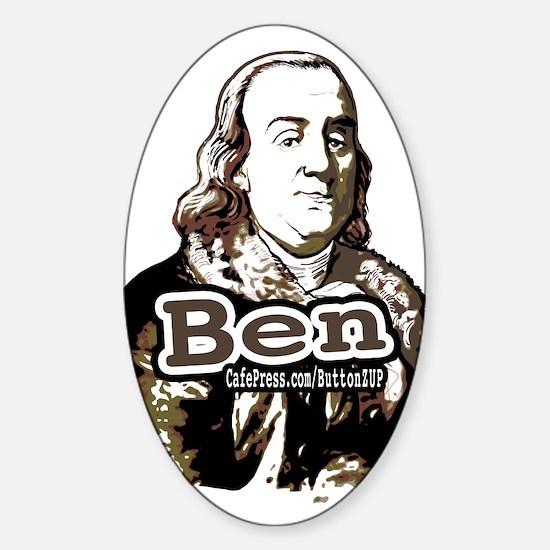 """Ben"" Franklin Ben Oval Decal"