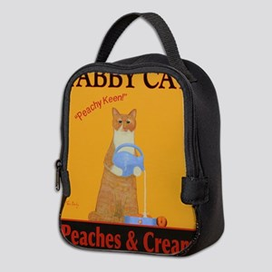 Tabby Cat Peaches and Cream Neoprene Lunch Bag