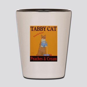 Tabby Cat Peaches and Cream Shot Glass
