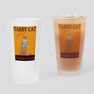 Tabby Cat Peaches and Cream Drinking Glass