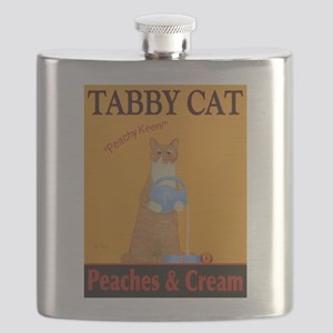 Tabby Cat Peaches and Cream Flask