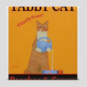 Tabby Cat Peaches and Cream Tile Coaster