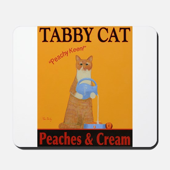 Tabby Cat Peaches and Cream Mousepad