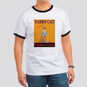 Tabby Cat Peaches and Cream Ringer T